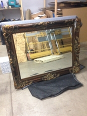 Antique Mirrors packing