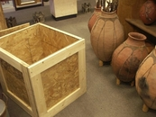 Pottery pack crate and ship